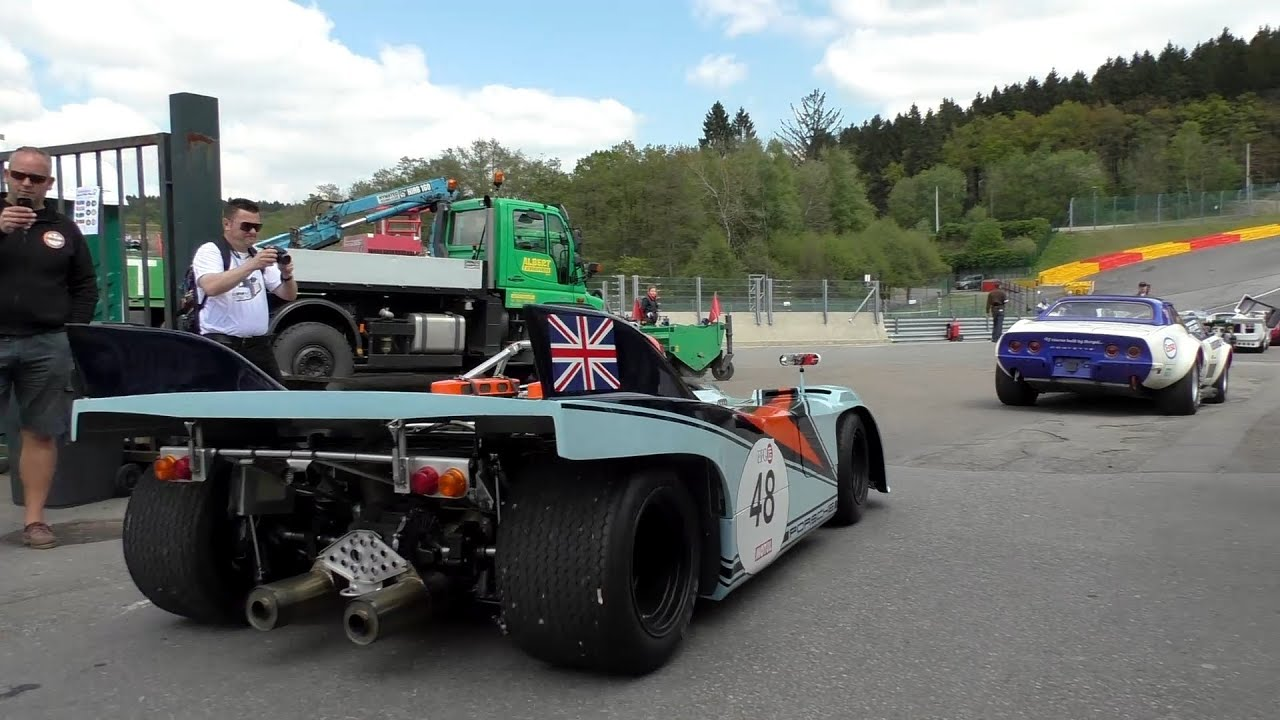 Spa Classic 2014 Classic Endurance Racing Car Lineup - YouTube