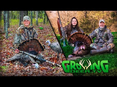 Turkey Hunting Action 2016: Young Guns With Turkeys Down! (#334) @GrowingDeer.tv