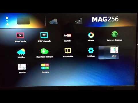 MAG256 IPTV Set Top Box mit HEVC Unterstützung