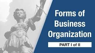 Company Law - Forms of Business Organizations [Part I]