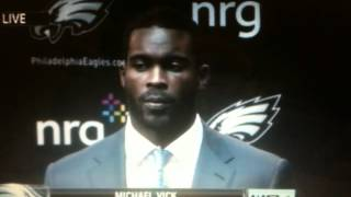 Michael Vick asked about a tweet from his brother, Marcus