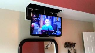 Homemade Tv Lift In Bedroom