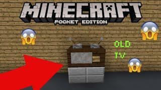 HOW TO MAKE A TV IN MCPE (Minecraft PE) / minecraft pe / InfiniTube