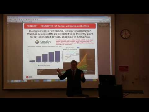 Karl J. Weaver presents Wearable Payment Smart Watches with eSIM @Seattle University, Nov.1st,  2016