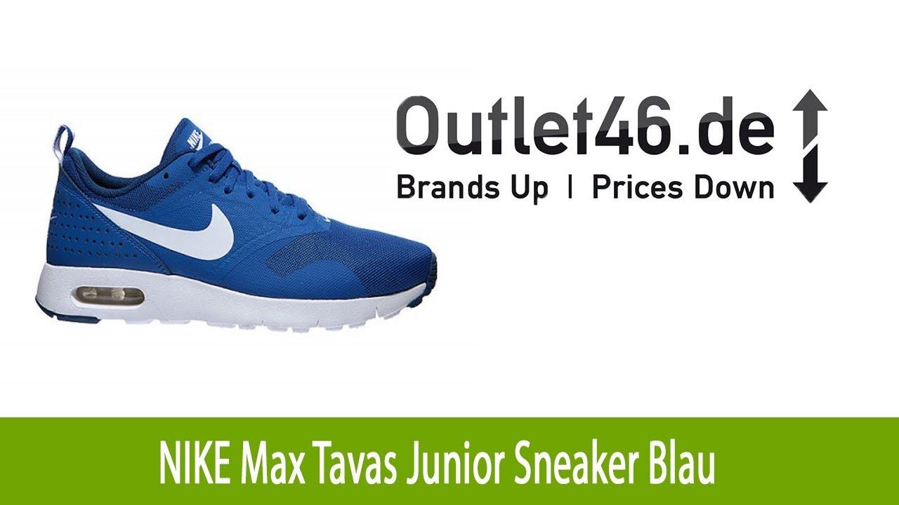 timeless design 3c551 7aa10 Schicker NIKE Max Tavas Junior Sneaker Blau l Outlet46.de