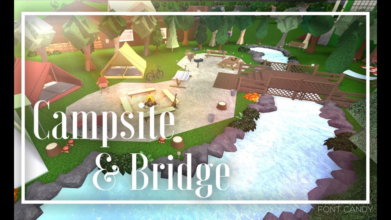 Bloxburg Campsite Amp Bridge Speedbuild Youtube