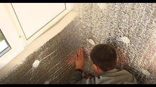 видео Технология утепления балкона