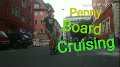 Penny board cruising in Nurnberg