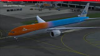 Establishing and landing ILS 18R Amsterdam FULL (Part 2)