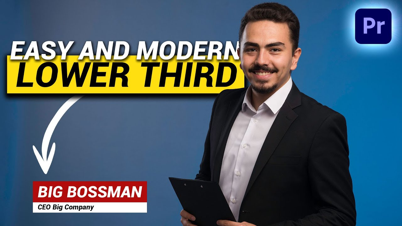 Create a Modern LOWER THIRD (Premiere Pro Tutorial)