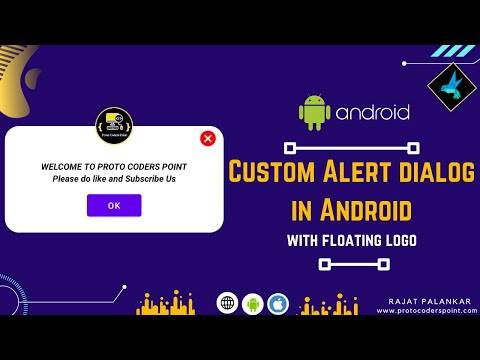 custom alert dialog in android with floating image logo