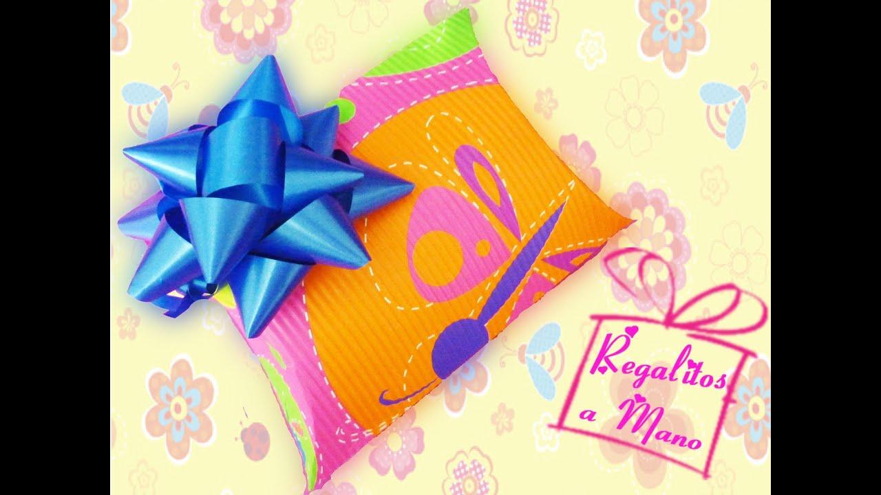 Caja de regalo almohada pillow box - Como envolver un regalo grande ...