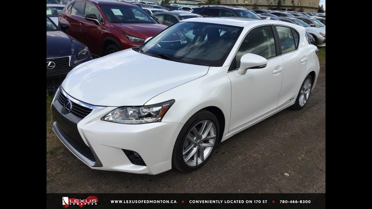executive demo white 2015 lexus ct 200h fwd hybrid touring package review south edmonton youtube. Black Bedroom Furniture Sets. Home Design Ideas