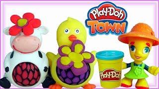 Play Doh Town • Zwierzęta na farmie • bajki dla dzieci