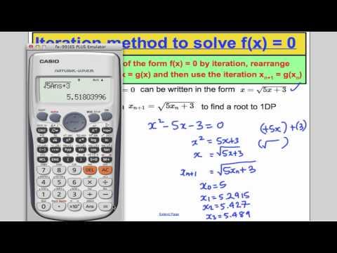 A-Level Maths Edexcel Numerical Methods - Iteration (L9) Core 3 Edexcel A-Level Maths