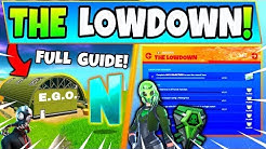Fortnite EGO OUTPOSTS & THE LOWDOWN CHALLENGES GUIDE! - Hidden N (Fortnite Missions)