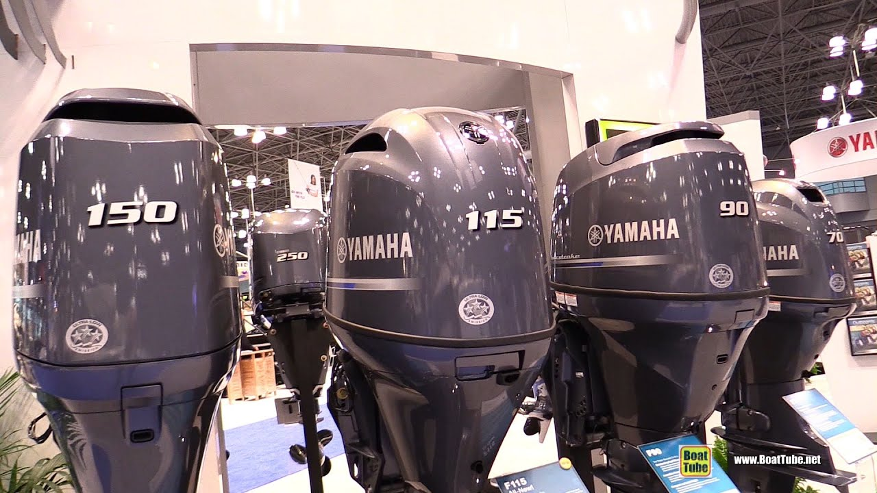 2015 Yamaha 150hp 115hp 90hp And 70hp Outboard Engines Walkaround 2015 New York Boat Show Youtube