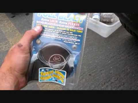 Car horn install video Low tone - YouTube