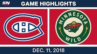 NHL Highlights | Canadiens vs. Wild - Dec 11, 2018