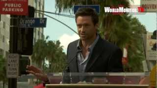 Hugh Jackman incredible Speech during his Hollywood Walk Of Fame Ceremony