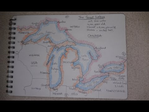 ASMR - Map Of The Great Lakes - Australian Accent - Chewing Gum & Describing In A Quiet Whisper