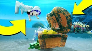I went SCUBA DIVING for treasure on Roblox!! *diving simulator*