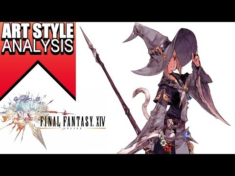 Final fantasy 14 Art-style analysis- Line art