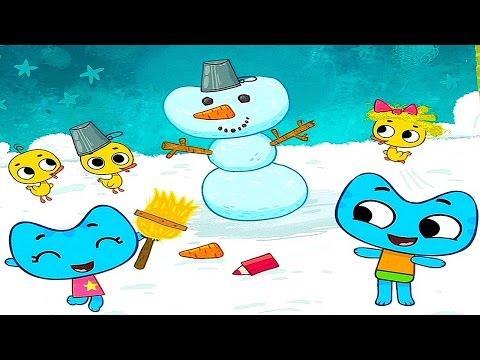 Котики вперёд! Лепим снеговика - Обзор детского приложения Kotiki Vpered