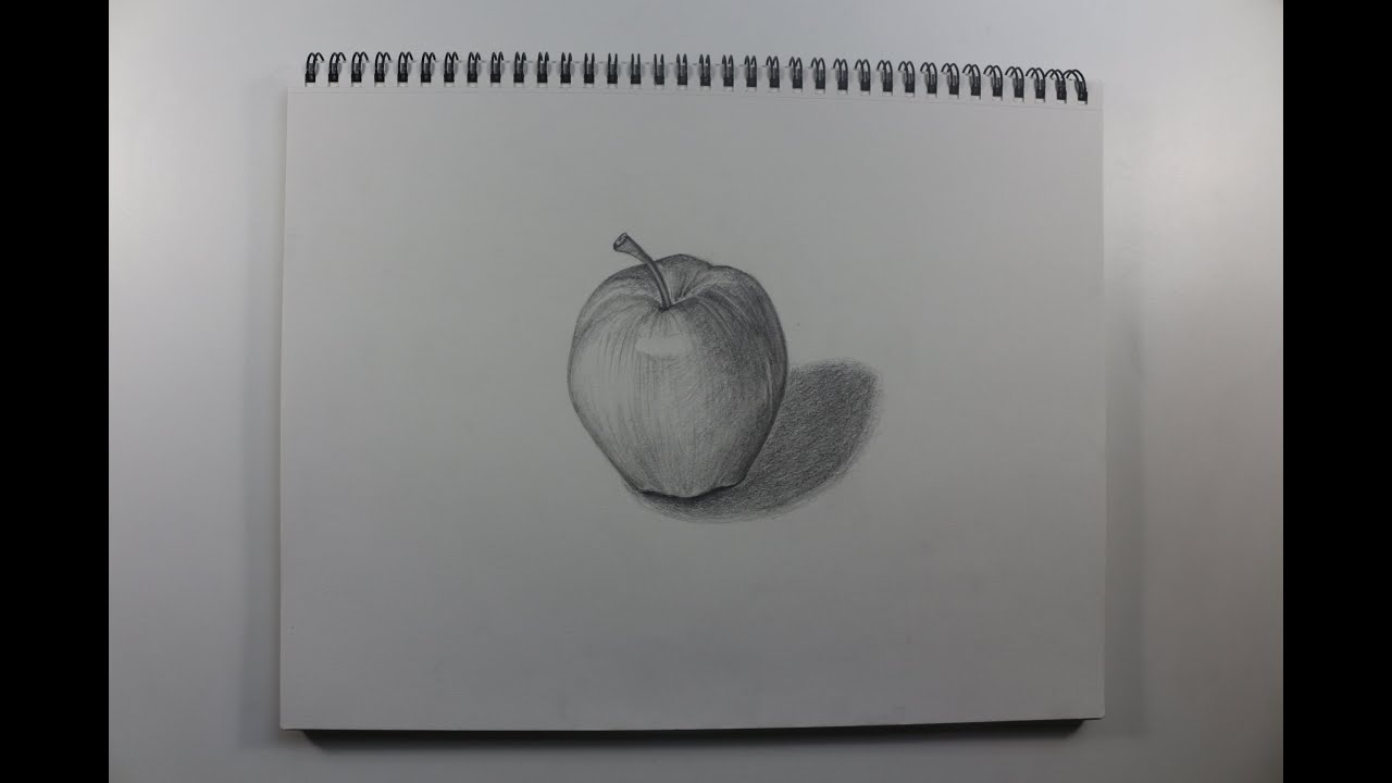 how to draw an applegraphite pencil drawing youtube