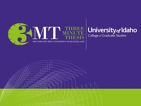 3MT® Runner-Up - Charlotte Milling - 2016 University of Idaho 3MT® Competition