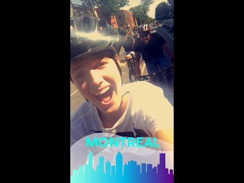 Genie Bouchard biking in Montreal Snapchat