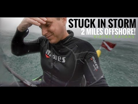 STUCK In Storm 2 Miles OFFSHORE While Kayaking!