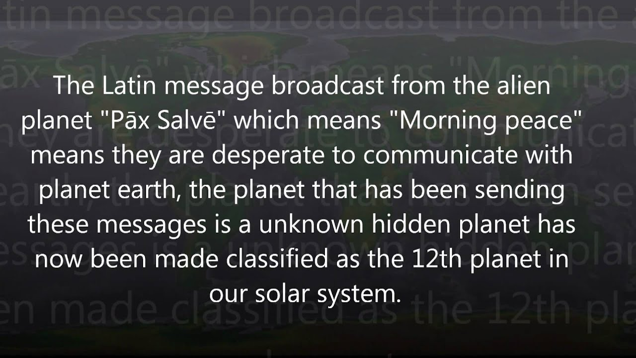 NASA decodes Alien ET message - YouTube