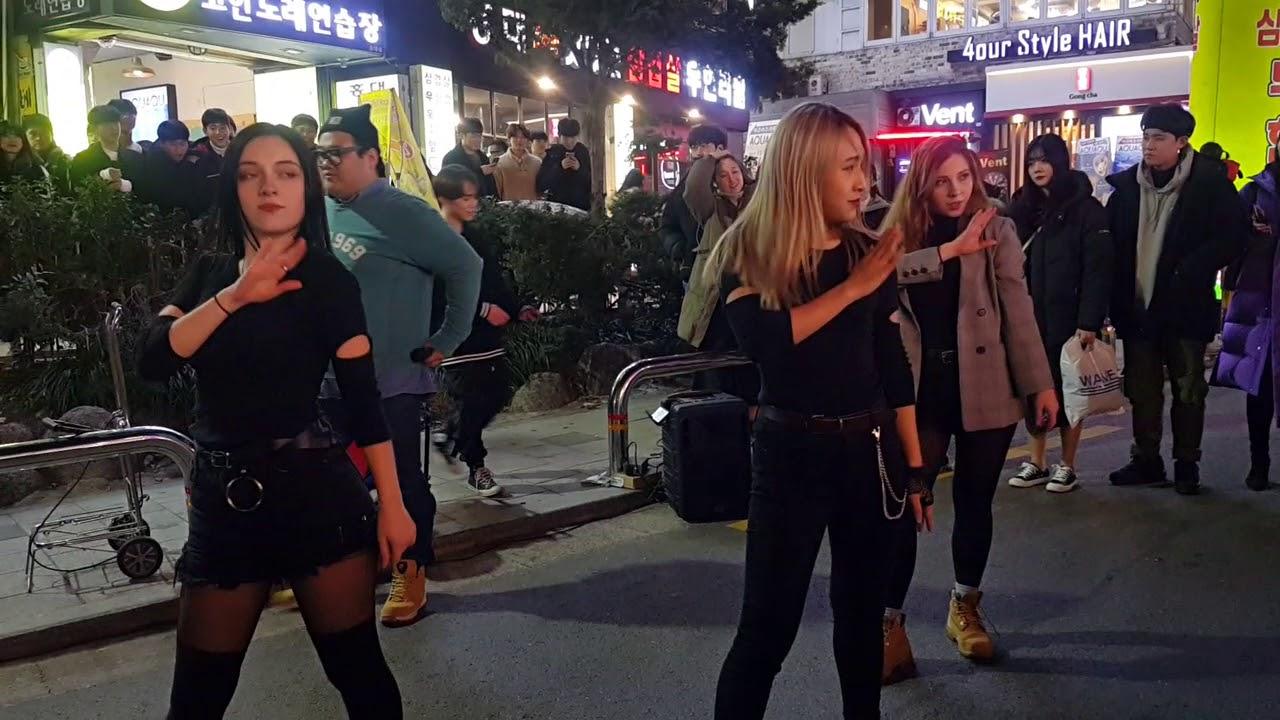 블랙핑크☆뚜두뚜두☆COVER[레드스파크☆REDSPARK] 홍대버스킹 20181130금 [HONGDAE KPOP STREET BUSKING]