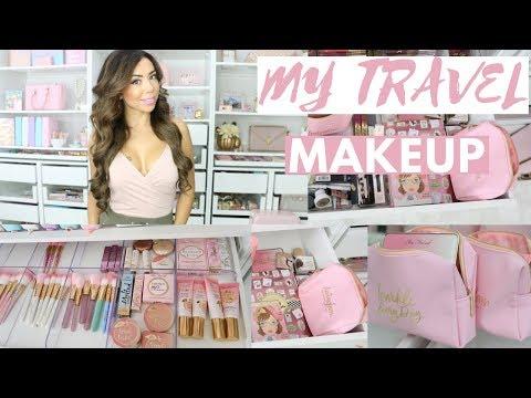 WHATS IN MY TRAVEL MAKEUP BAG FOR NEW YORK CITY?🌟💕 -SLMissGlam🌟💕