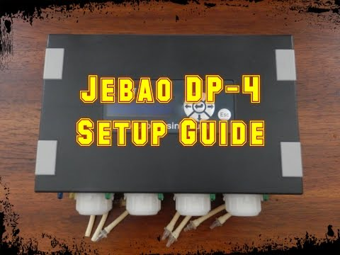 Jebao DP-4 Dosing Pump Setup   Beginner Guide To Saltwater Aquariums