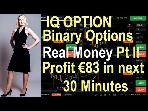 IQ Option Real Money: Part 2 - Profit €83 in next 30 minutes