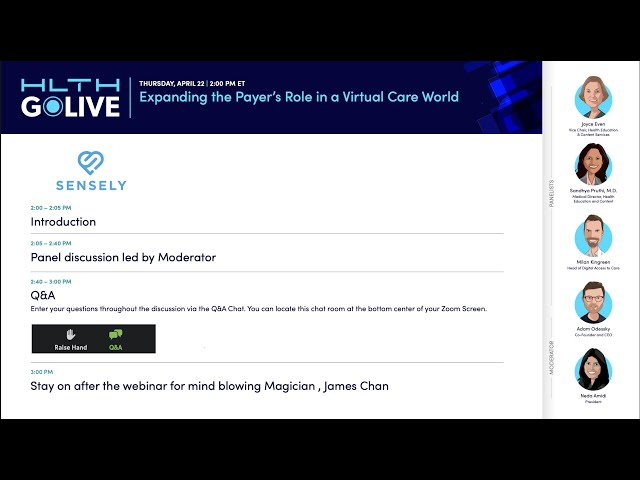 GoLIVE Webinar: Expanding the Payer's Role in a Virtual Care World