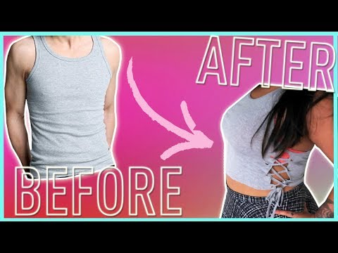 DIY UPCYCLE WIFE BEATER TANK TOPS // NO SEW UPCYCLE TANK TOPS 3 DIFFERENT WAYS!
