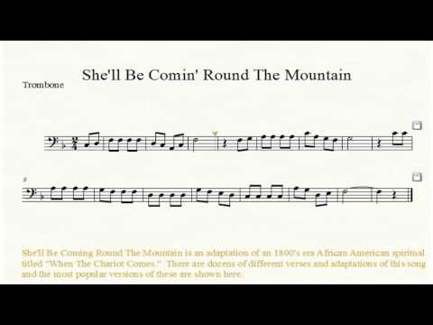 She'll Be Coming Round The Mountain Trombone, Baritone, or Bassoon Sheet Music
