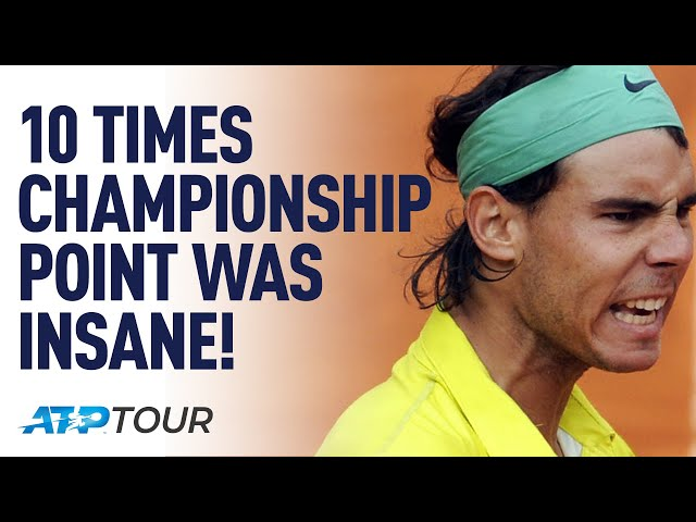 10 Times Titles Were Won On AMAZING POINTS! | TOP 10 | ATP