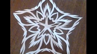 5-угольная снежинка. Как складывать бумагу для 5 угольной снежинки.