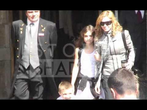 Pop singer Madonna with her daughter Lourdes in Paris