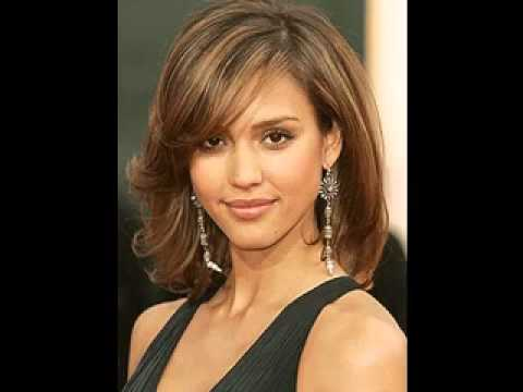 2014 Best haircut for round faces - YouTube