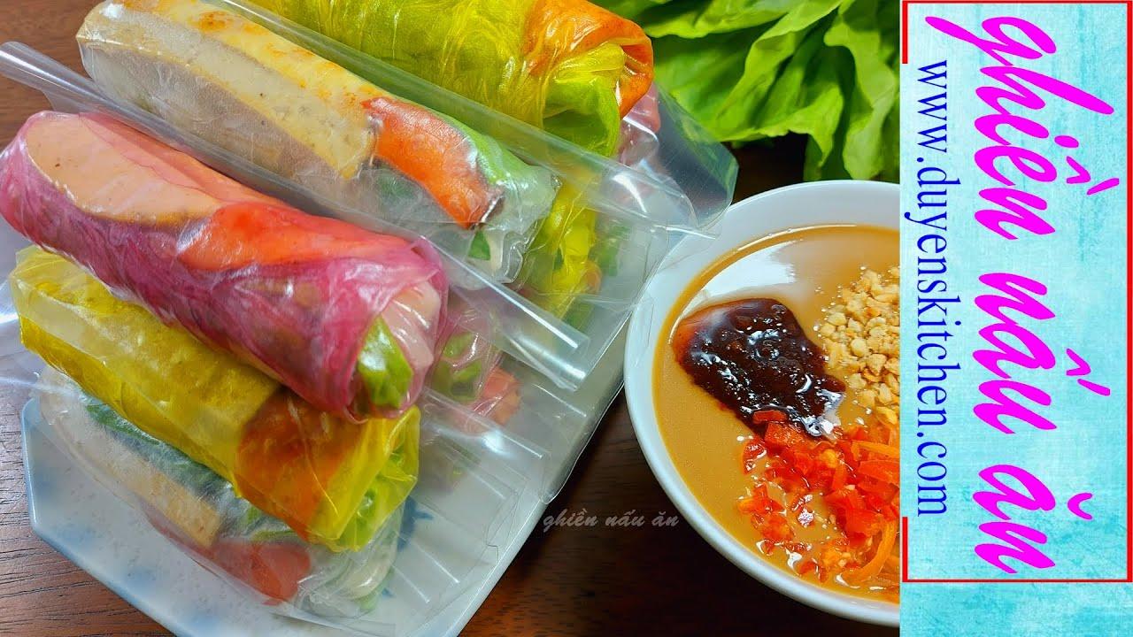 Cách Làm Bò Bía Chay Tam Sắc By Duyen's Kitchen   Ghiền nấu ăn
