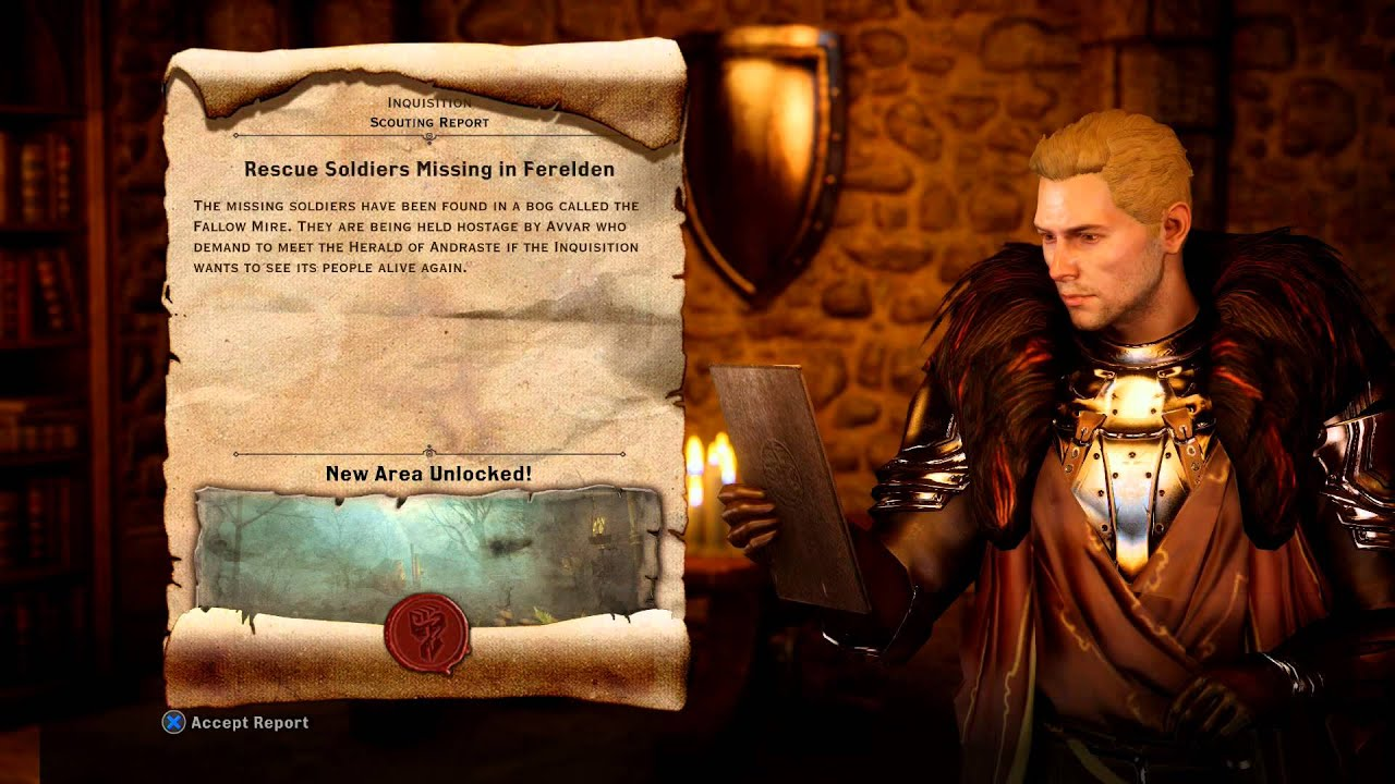 Dragon Age Inquisition War Table Rescue Missing Solrs Mission Fereldan 8pts Reward Ps4
