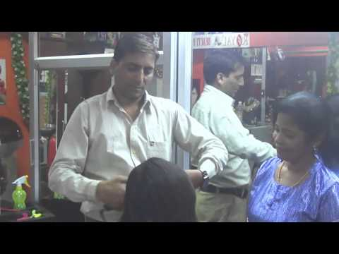 Bollywood Cine Makeup Artist haircut demo