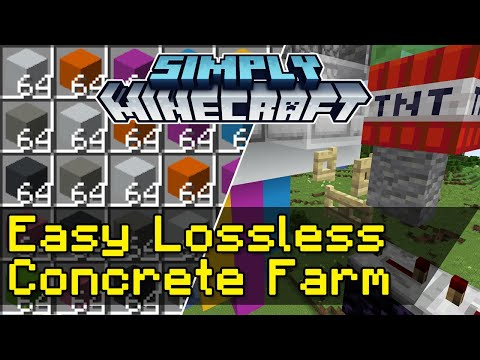 Easy Lossless Concrete Farms Tutorial | Simply Minecraft (Java Edition 1.16)