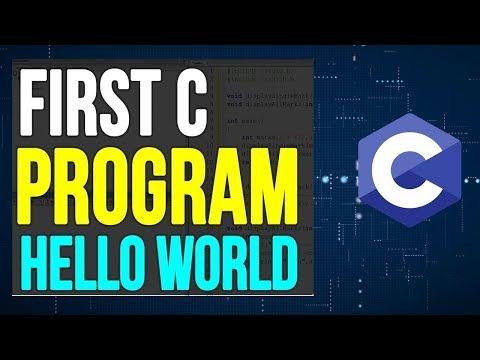C Programming Tutorial for Beginner | 3-  Creating First Program ( Hello World ) in C Programming thumbnail