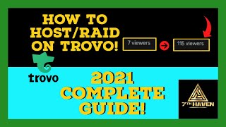 How To HOST/RAID oฑ Trovo In 2021! (Complete Guide)